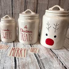 rae dunn rae dunn inspired christmas vinyl decals canister decals mug