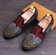 wedding shoes europe new fashion set auger men velvet loafers party wedding shoes
