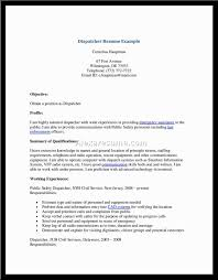 Examples Of Resumes For Truck Drivers by Resume Truck Dispatcher Resume