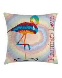 colorful throw pillow case tropic flamingo birds print cushion cover