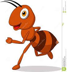 cute ant cartoon running stock photography image 29822032
