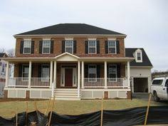 colonial homes with front porches google search exterior
