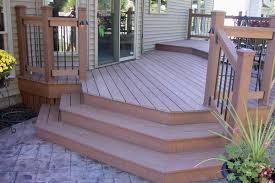 concrete deck ideas composite deck stamped concrete patios raised