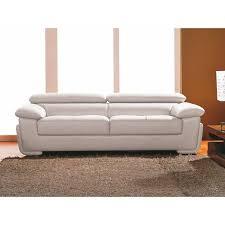 canapé cuir blanc 3 places canapé 3 places en cuir blanc achat vente canapé sofa