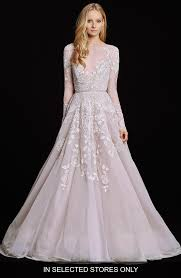 wedding dress with sleeves hayley hayley embellished net tulle sleeve