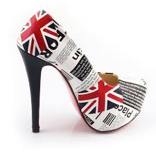 American Flag Shoes Free Shipping 2013 Sale Fashion British Uk American Flag Heels