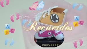 recuerdos para baby shower zapatito foamy estilo converse how to