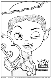 spectacular jessie toy story coloring pages woody