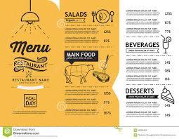 menu template restaurant free
