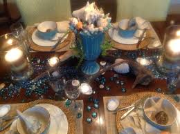 beach themed table setting french gardener dishes