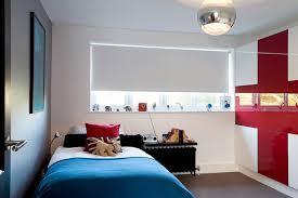 BlackoutblindsKidsContemporarywithaccentwallbedroomideas - Boys bedroom blinds