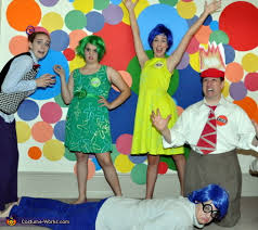 inside out costumes out emotional family costume