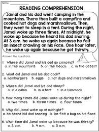 2nd grade reading passages and comprehension questions 2nd grade