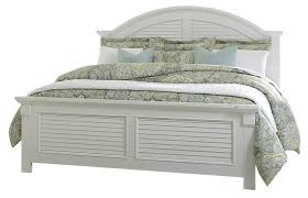 furniture summer house queen panel bed in oyster white 607 brq