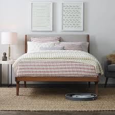 mid century bed acorn west elm modern duvet covers comforter sets