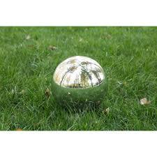 Garden Gazing Globes Mainstays Silver Gazing Ball Walmart Com