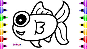 how to draw cute fish for baby u0026 coloring book for kids youtube