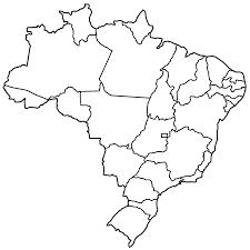 brazil map outline printable