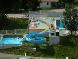 swimming pool area camping belle hutte