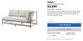 ekebol sofa for sale ikea ekebol sofa like new wan chai hong kong geoexpat