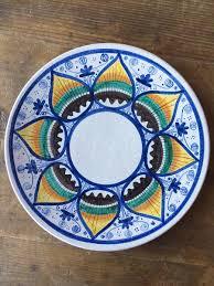 painted serving platters italian ceramic serving bowls mercato antiques