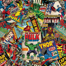 Halloween Fleece Fabric by Marvel Comic Fury Cover Art Fleece Red 59 60