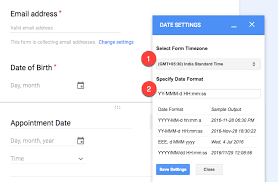 date format how to change the date and time format in google forms email