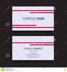name card modern simple business card template stock vector