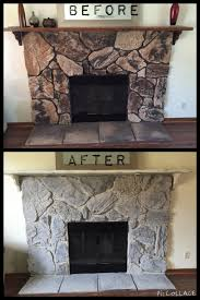 update your outdated fireplace it s so easy to do with only 20 love chalk stone fireplace makeoverpainted