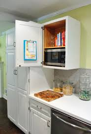 Kitchen Cabinet Microwave Shelf Hide The Ugly Microwave In A Cabinet And Save Counter Space Home