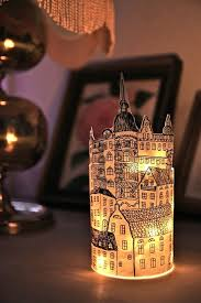 Diy Lantern Lights Paper Lantern Made Of A Drawing Wrapped Around A Candle Wouldn