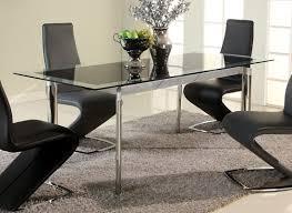 black glass extendable dining table with chrome legs philadelphia