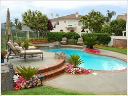 Home Design Ideas With Pool I Like The Little Beds All Around The Pool To Soften The Edges