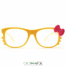 glofx kitty yellow diffraction glasses glofx com