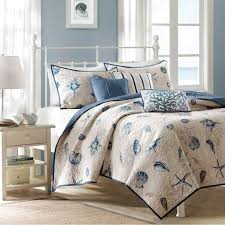 Coastal Quilts Amazon Com Madison Park Bayside Coverlet Set Blue Full