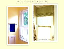 Waterproof Bathroom Window Curtain Accessories Splendid Small Bathroom Window Curtain Treatments