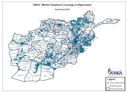 Cell Phone Service Map Coverage Footprint Telecom Regulatory Authority Of Afghanistan