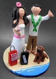 beach destination wedding cake toppers