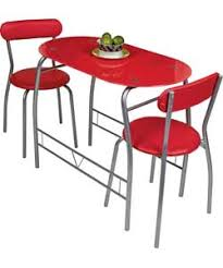 Miami Bistro Chair Miami Red Glass Dining Table And 2 Chairs Breakfast Set Decor