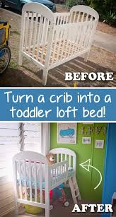 How To Convert A Crib Into A Toddler Bed Turn A Crib To A Toddler Loft Bed Ogt Friends