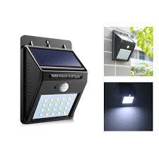 solar light for home pir motion sensor bulb led solar light 20 led outdoor power wall