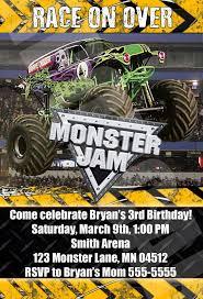 grave digger monster truck poster monster jam monster trucks birthday party by digipopcards on etsy