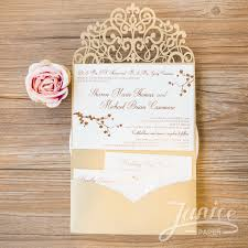 tri fold wedding invitations lovely sash tri fold laser cut wholesale pocket wedding