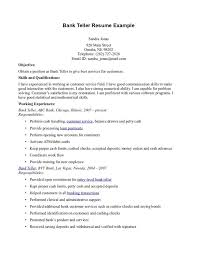 Cashier Resume Sample Responsibilities by Captivating Resume For Bank Teller 15 Skill Resume Bank Teller