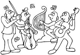 34 dessins de coloriage musique à imprimer