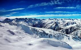 sunny snowy mountains wallpapers beautiful scene of snow on the mountains and blue sky is a lovely