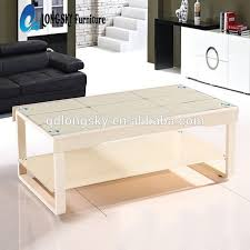 modern table ls for living room ls 1036 white coffee table modern living room furniture fancy glass