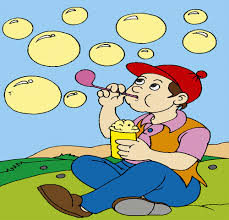 boy playing bubbles coloring pages kids color print