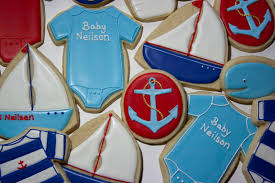 baby shower anchor theme s cookies nautical baby cookies