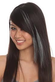 gray hair streaked bith black love the light grey streaks in her hair why does my hair never